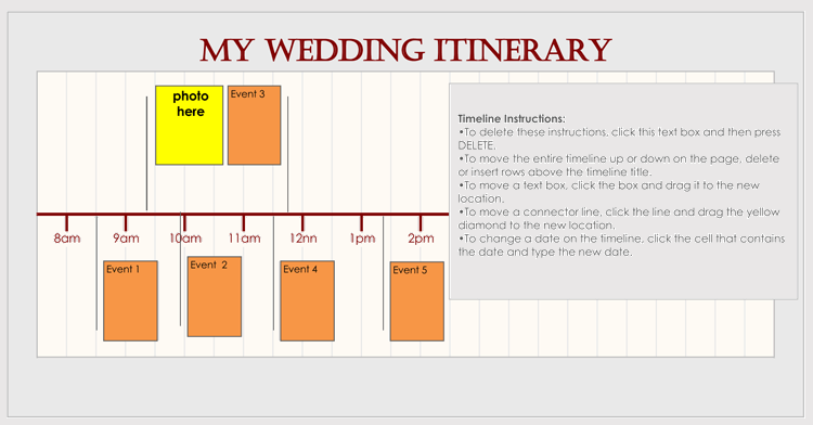 Wedding Itinerary Planner Template 02