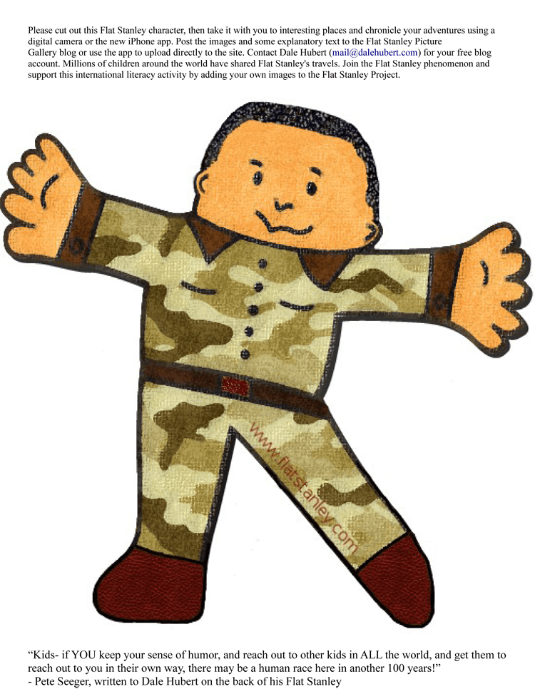 Sample of Flat Stanley Template 08