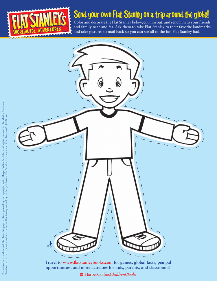 Sample of Flat Stanley Template 09