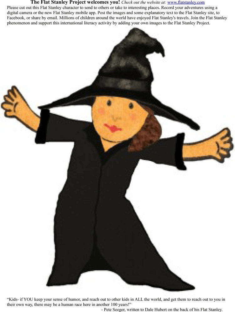 Sample of Flat Stanley Template 10