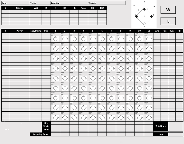 Free Baseball Scorecard Book