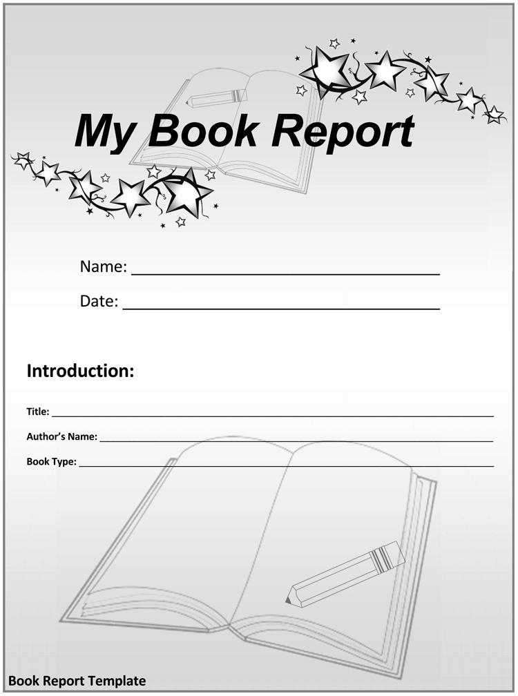 Creative Book Report Template
