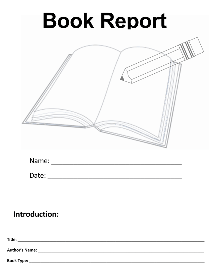 Book Report Template 4th Grade Sample 02
