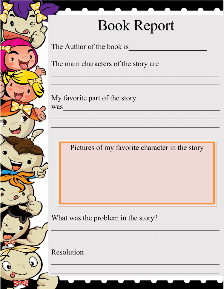 Book Report Template 4th Grade Sample 04