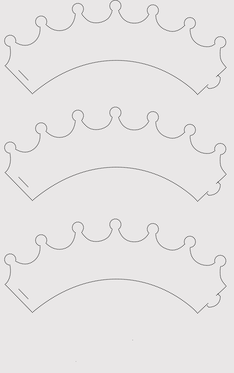 Paper Crown Templates For Prince Princes Print Cut At Home