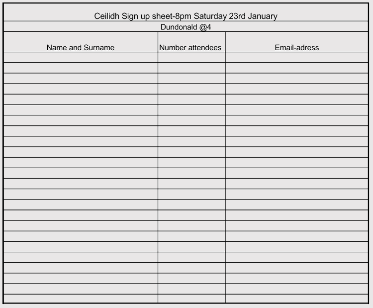 Volunteer Sign-In Sheet Template