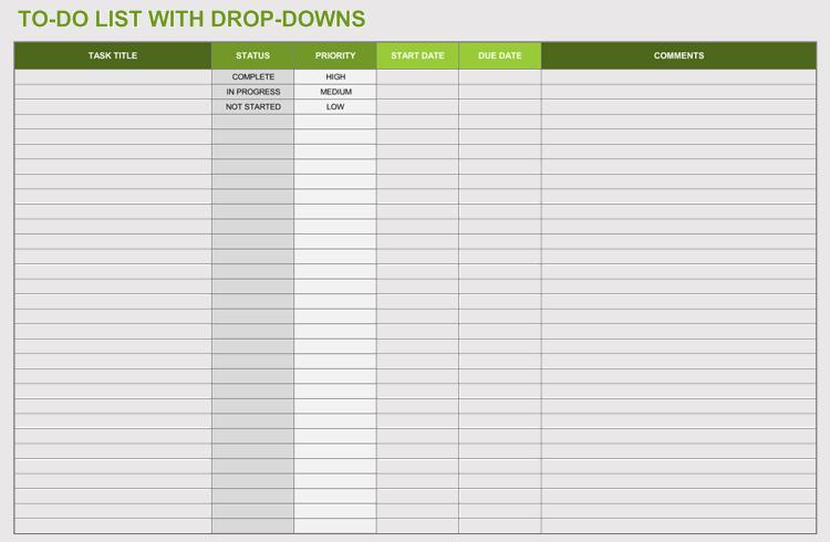 task list templates  excel  u2013 word   u2013 easy task management