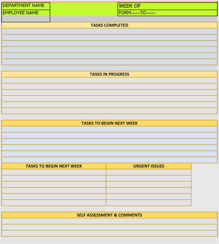 Employee Work Schedule Plan