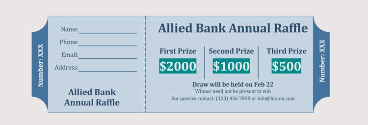 Bank Raffle Ticket Template
