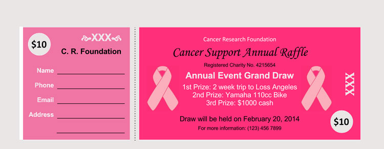 Cancer Support Raffle Ticket