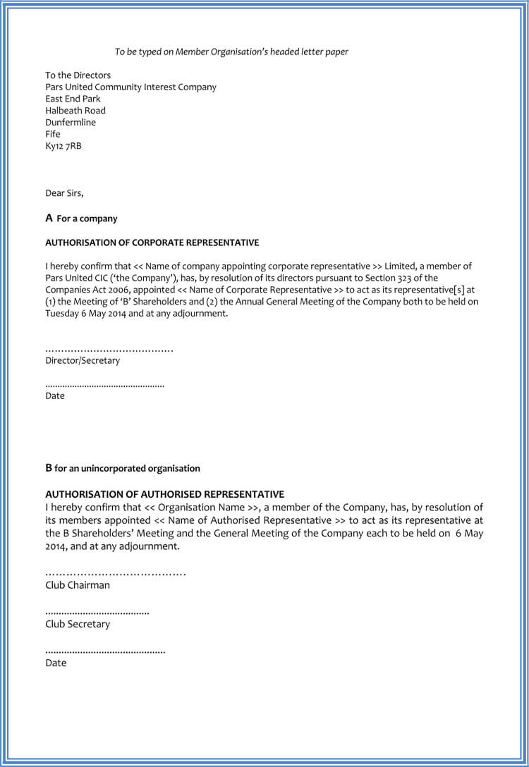 letter appointing a representative 60 samples of appointment letter format in pdf and word 9572