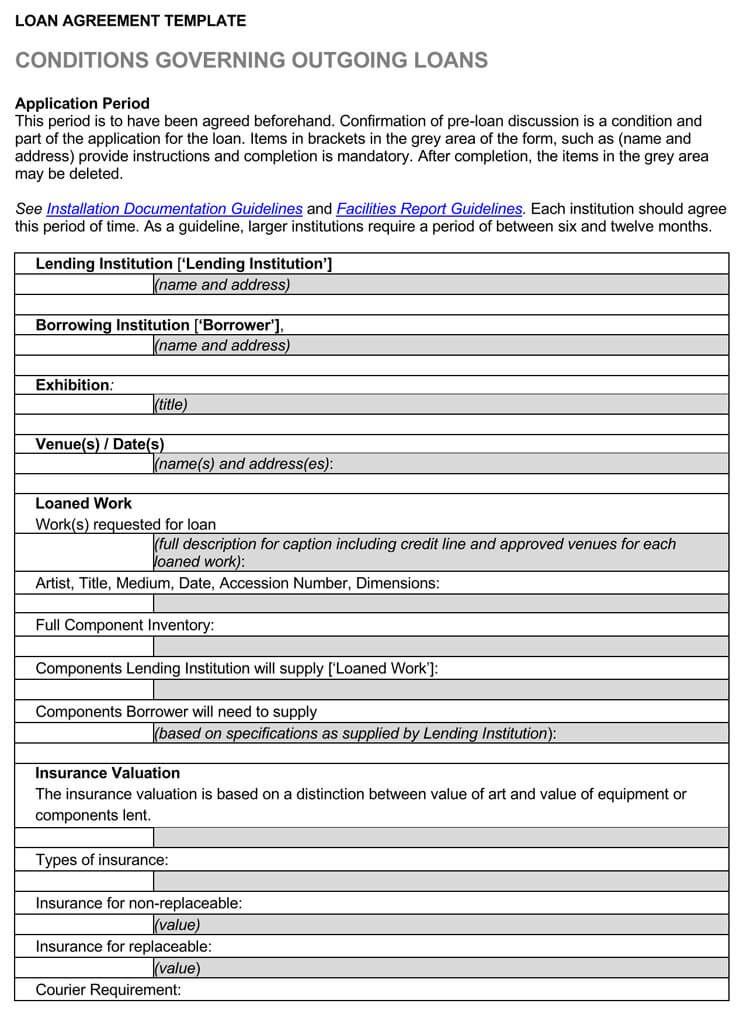 Loan Agreement Template (Between Individuals)