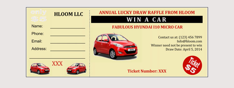 Lucky Draw Rafle Ticket Template