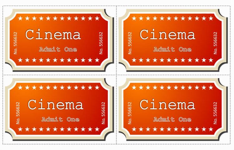 Movie Ticket Template word