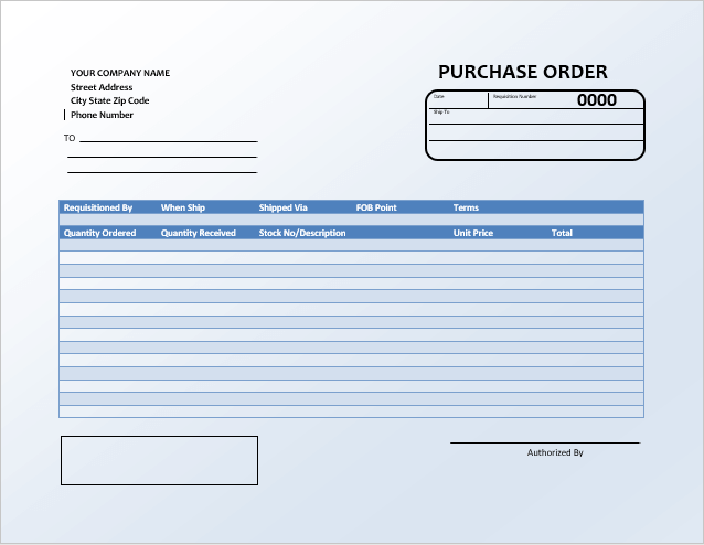 Po Templates | 40 Free Purchase Order Templates Forms Samples Excel Word