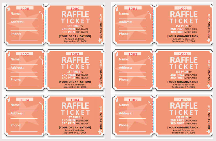 45 Raffle Ticket Templates Make Your Own Raffle Tickets