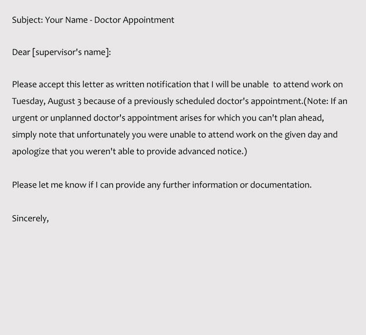 Sample Doctor Appointment Request Letter