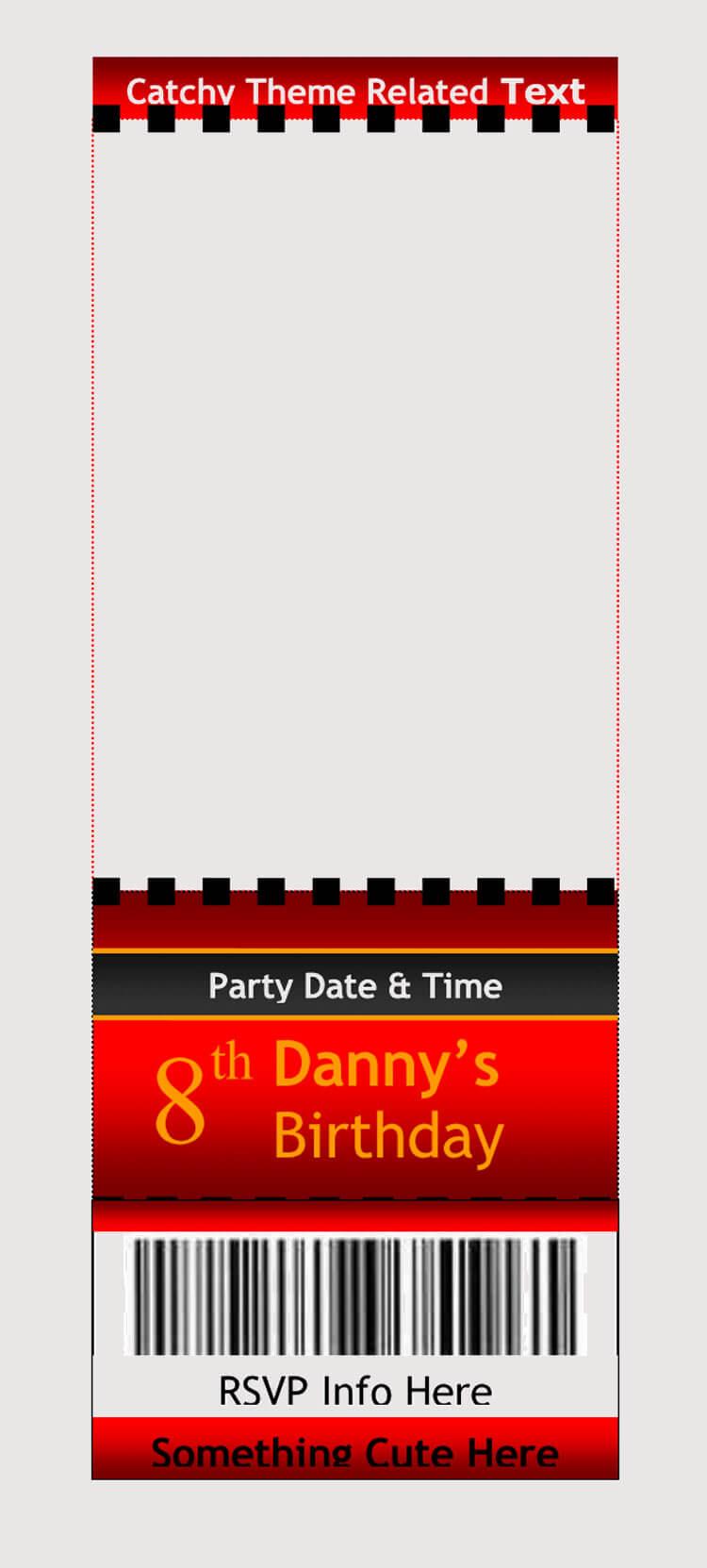 Theme Raffle Ticket Template
