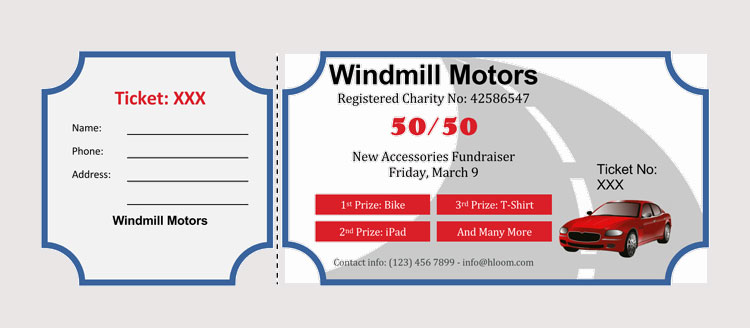 Winning Raffle Ticket Template