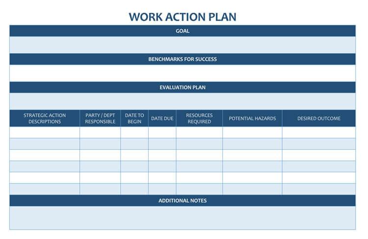 work plan templates free