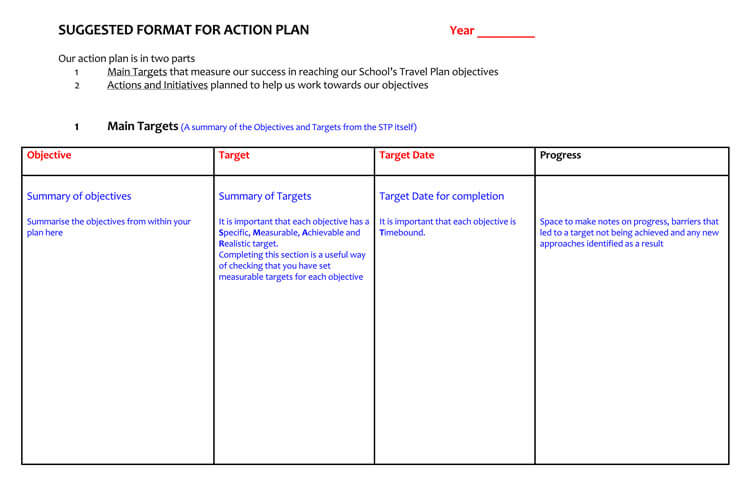 58 Free Action Plan Templates Samples An Easy Way To Plan Actions