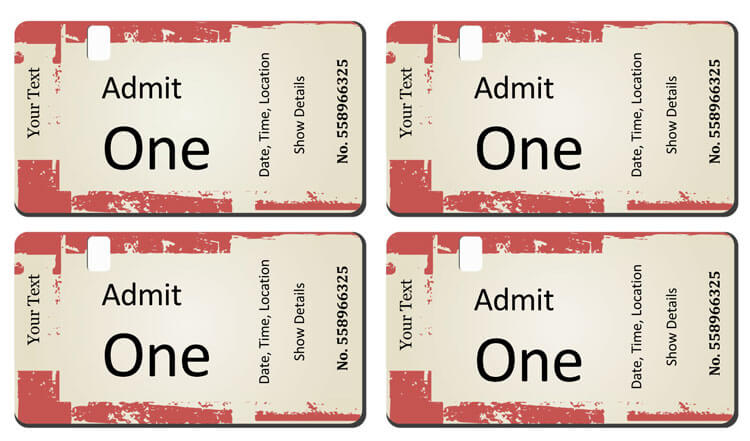 make your own tickets free printable