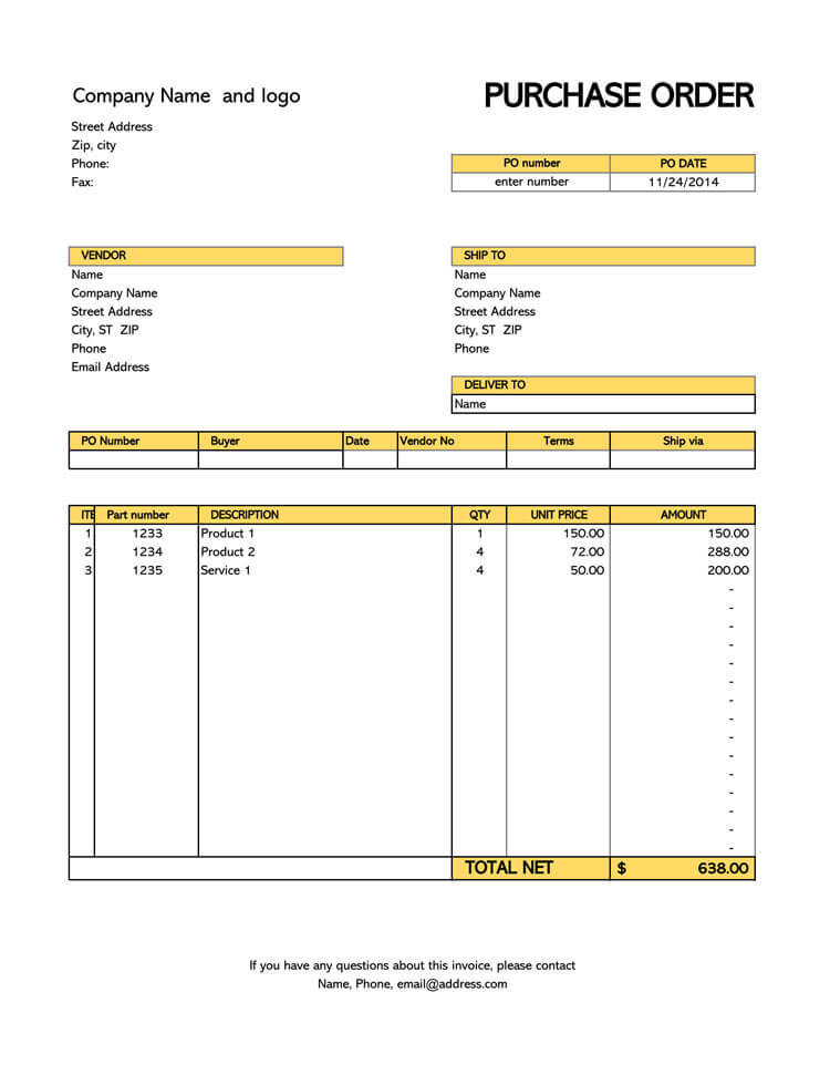 40 free purchase order templates forms samples excel word online purchase order maxwellsz