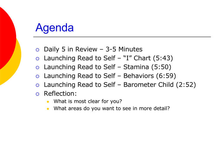 Daily 5 Lesson Plan Example