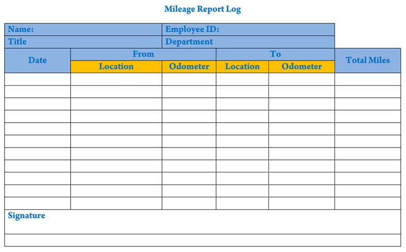 Mileage Log Report 16