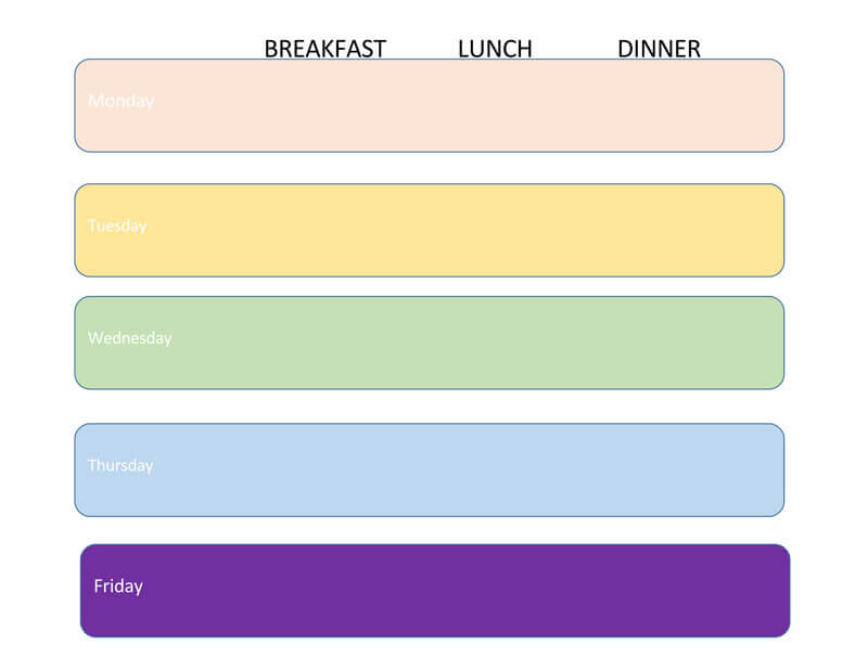 meal plan template for weight loss