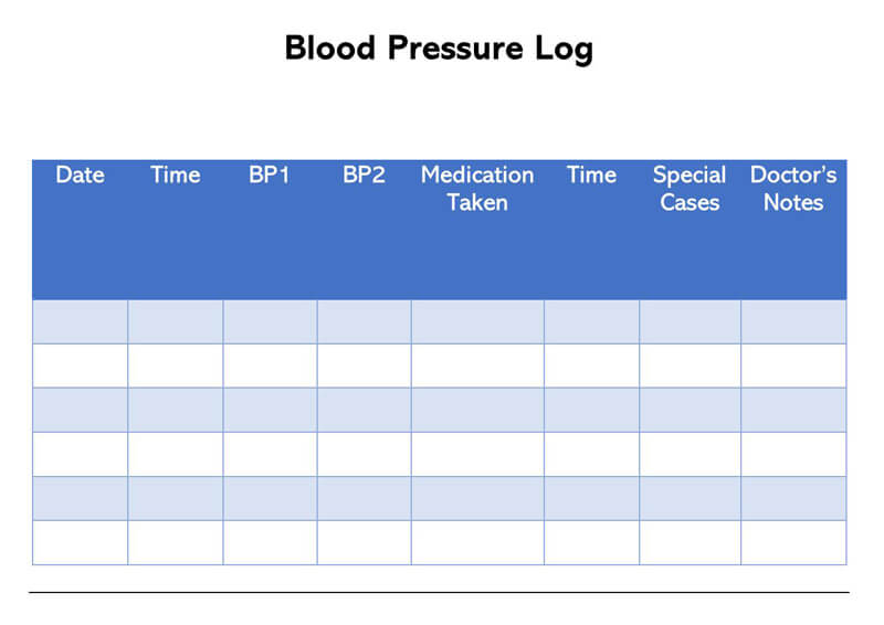 Blood Pressure Log Template 03
