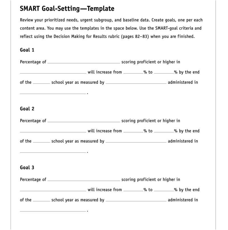 Free SMART Goals Template 03