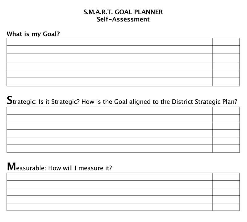 Free SMART Goals Template 08