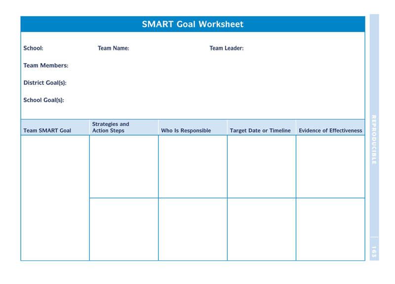 Free SMART Goals Template 15