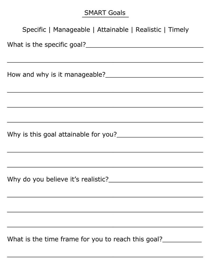 Free SMART Goals Template 17