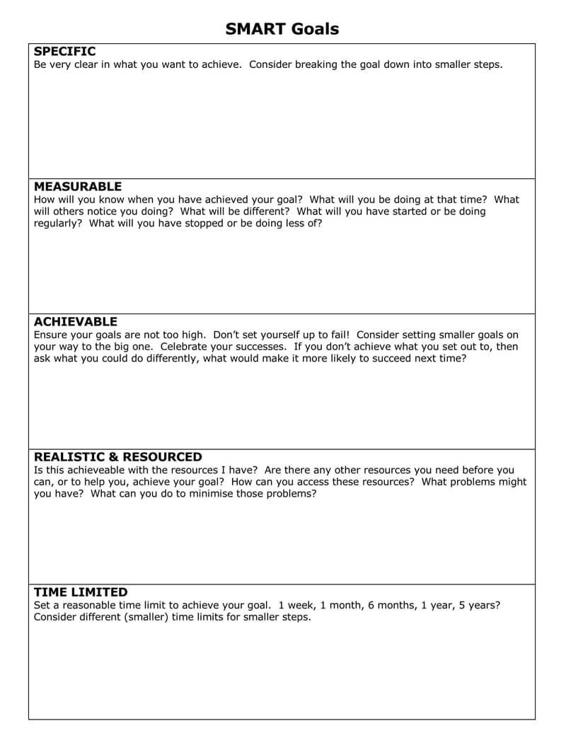 Free SMART Goals Template 20Free SMART Goals Template 20