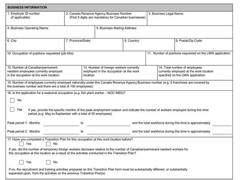 Schedule Employer Transition Plan