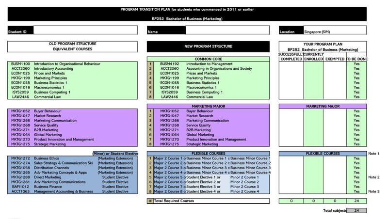 Transition Plan Excel Sheet Template 06