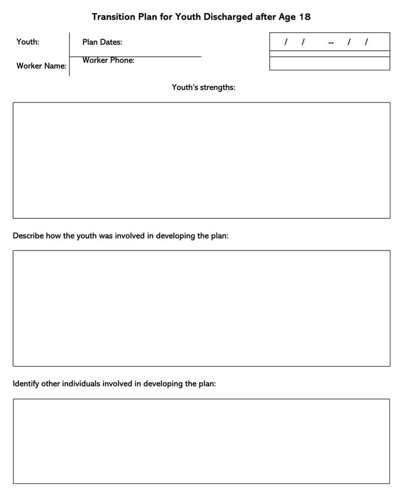 Transition Plan Template 11
