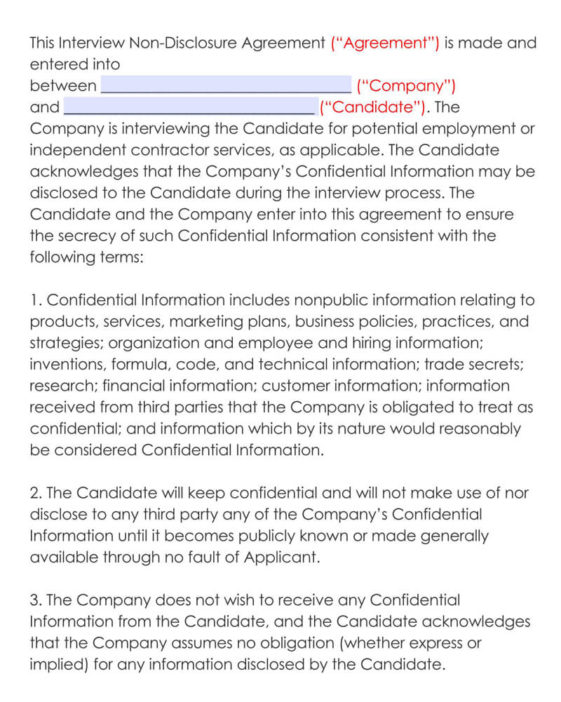Employment-Non-Disclosure-Agreement-Template
