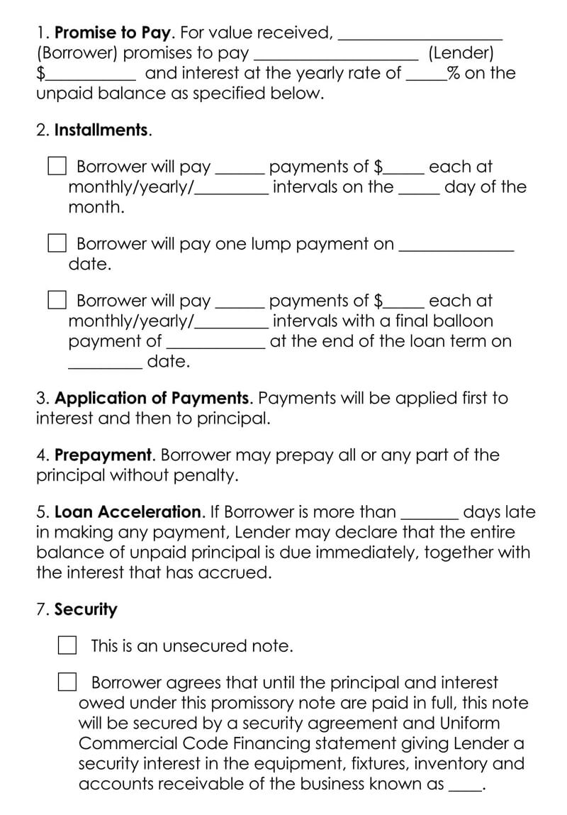 Free-Interest-Promissory-Note-Form