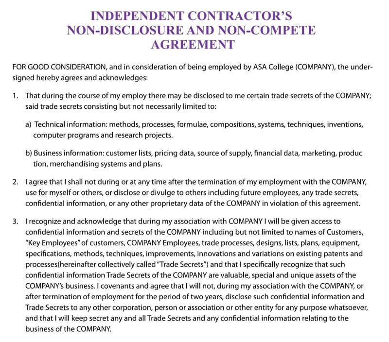 Indepenedent-Contractor-Non-Compete-Agreement-Template
