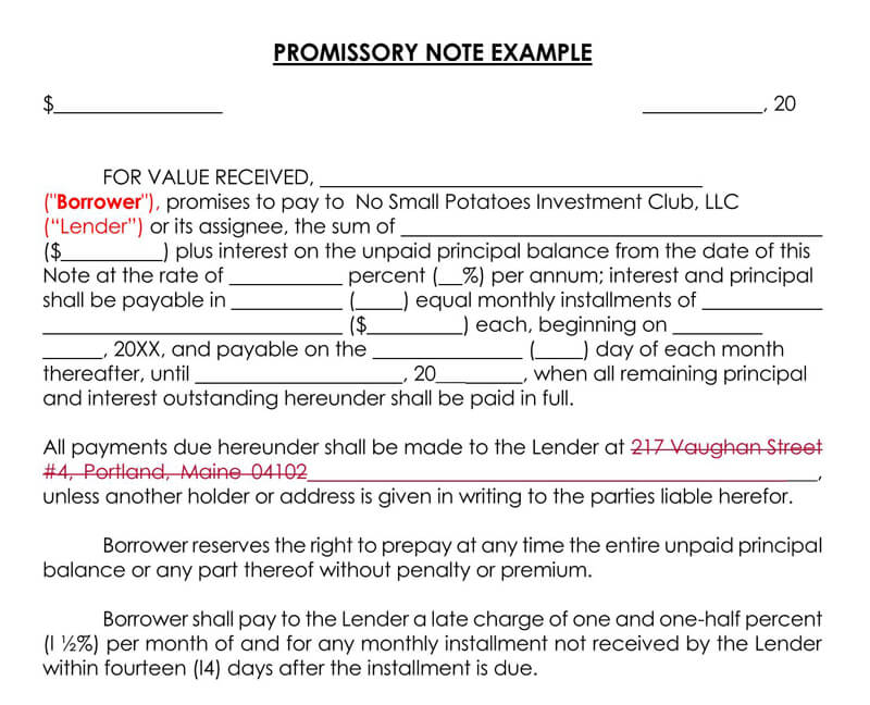 Promissory-Note-Template-Example