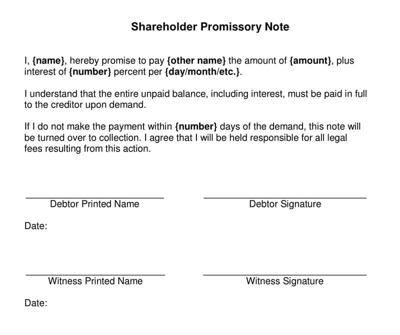 Shareholder-Promissory-Note-Form