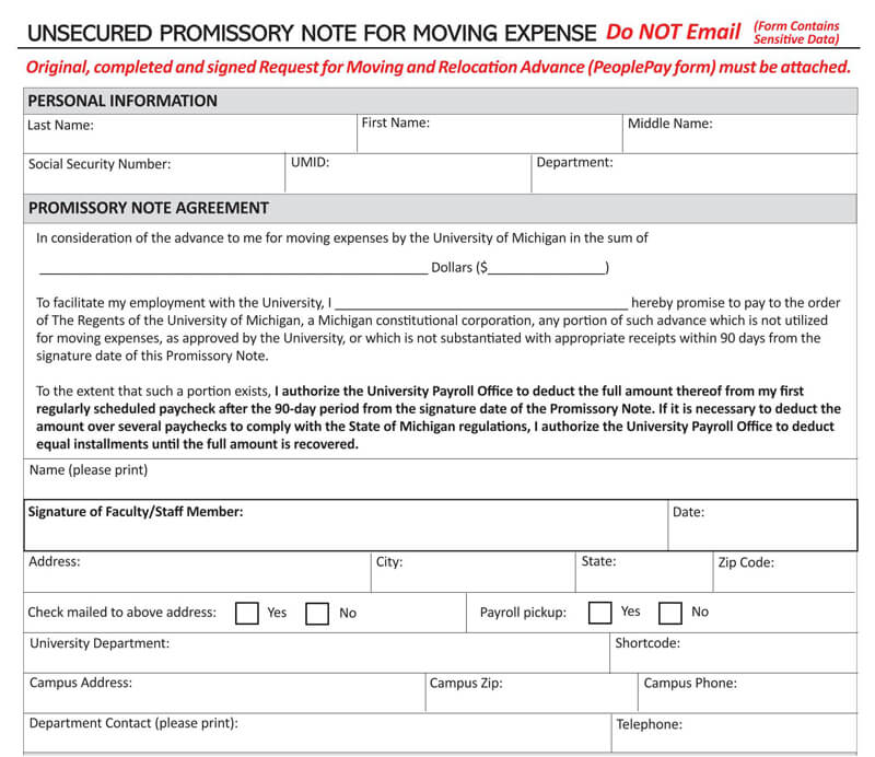 Unsecured-Promissory-Note-for-Moving-Expense-Template