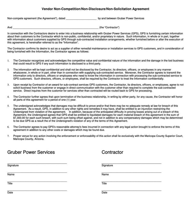 Vendor-Non-Solicitation-Agreement-Form