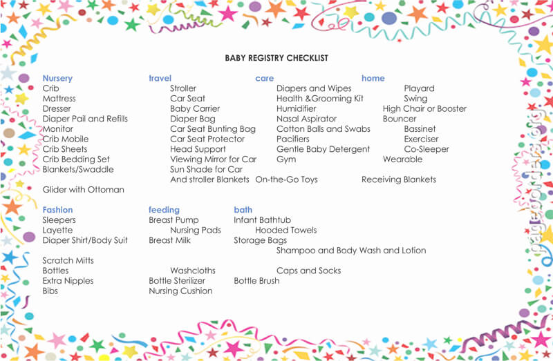Baby Registry Word Checklist Template 05