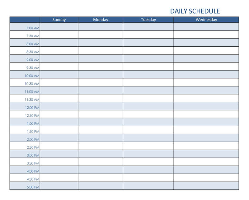 Daily Planner Excel Template 02