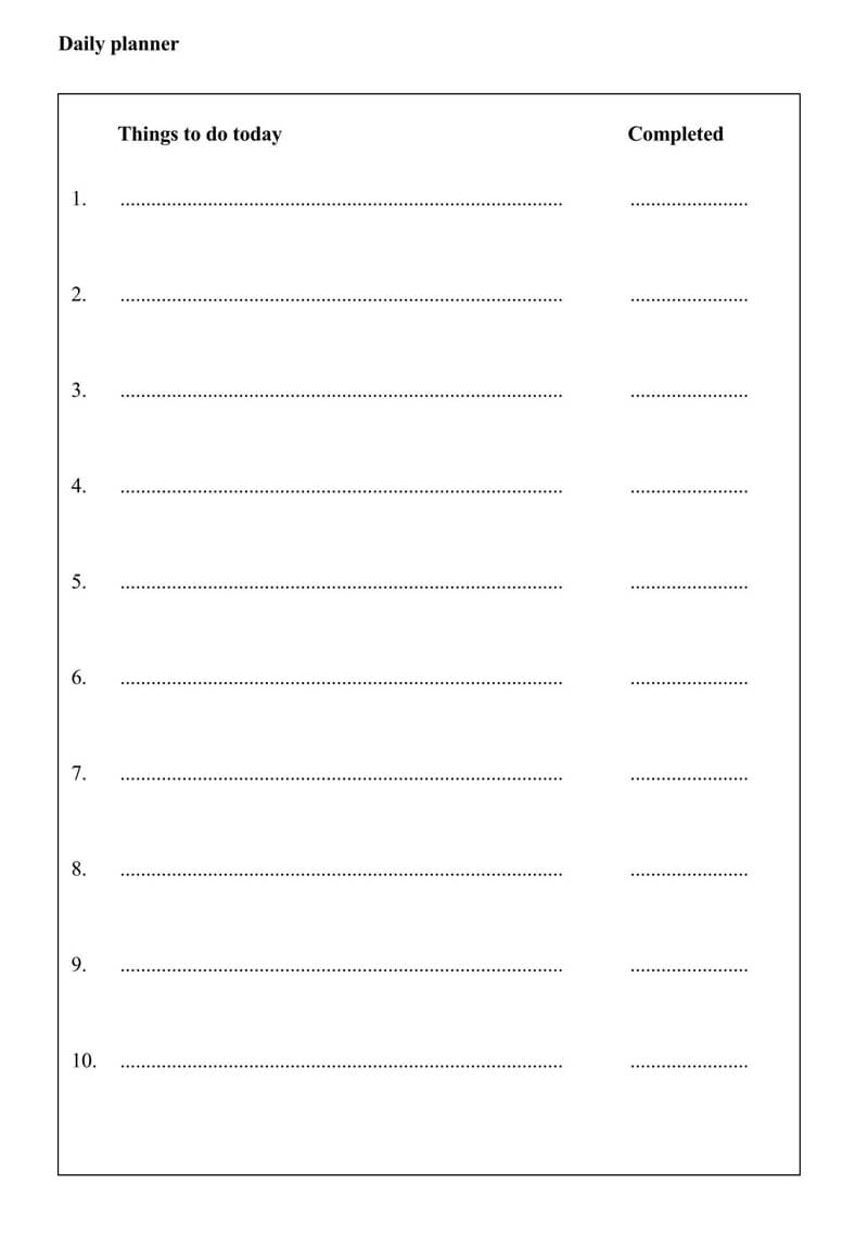Daily Planner Template PDF 04