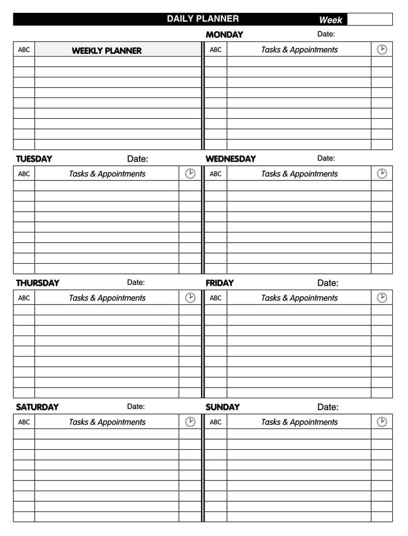Daily Planner Template PDF 05